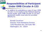 responsibilities of participant under omb circular a 1332