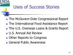 uses of success stories