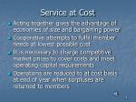 service at cost