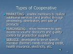 types of cooperative