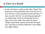 a view to a death5