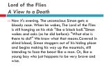 lord of the flies a view to a death