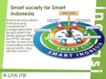 smart society for smart indonesia