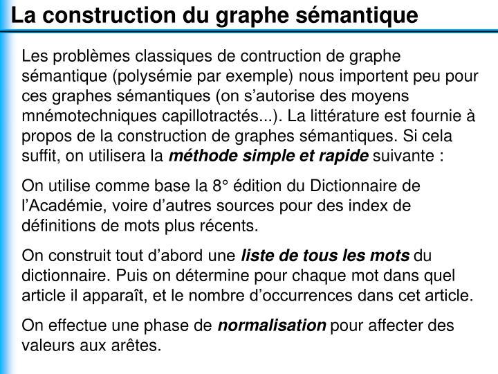 La construction du graphe sémantique