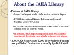 about the jaea library