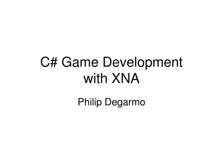 c game development with xna n.