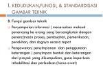 i kedudukan fungsi standardisasi gambar teknik1