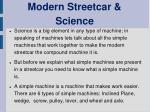 modern streetcar science