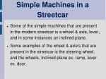 simple machines in a streetcar