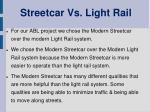 streetcar vs light rail