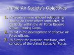 arnold air society s objectives
