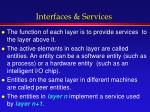 interfaces services