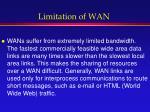 limitation of wan