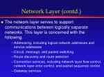 network layer contd