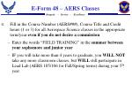 e form 48 aers classes