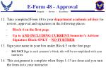 e form 48 approval