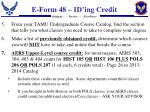e form 48 id ing credit