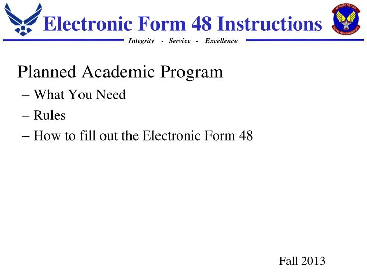 electronic form 48 instructions n.