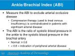 ankle brachial index abi