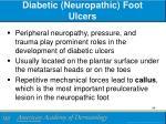 diabetic neuropathic foot ulcers