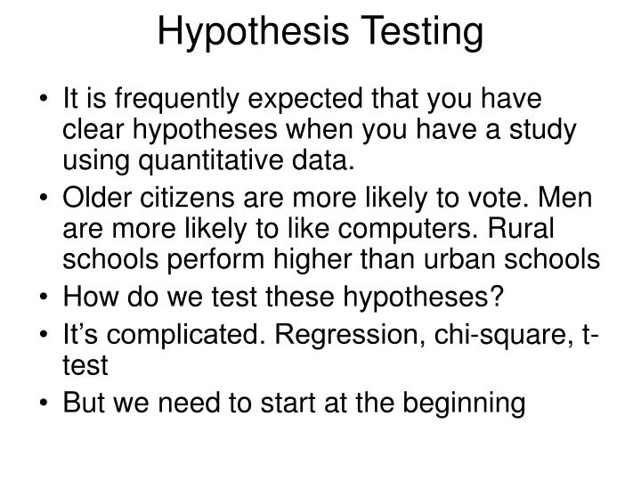 PPT - Hypothesis Testing PowerPoint Presentation - ID:6969304