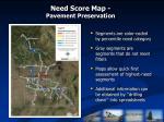 need score map pavement preservation