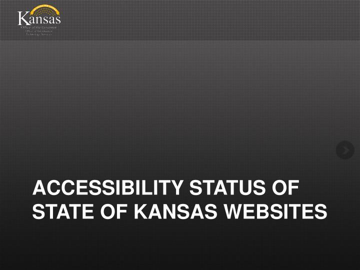 accessibility status of state of kansas websites n.