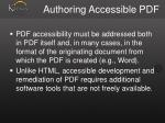 authoring accessible pdf