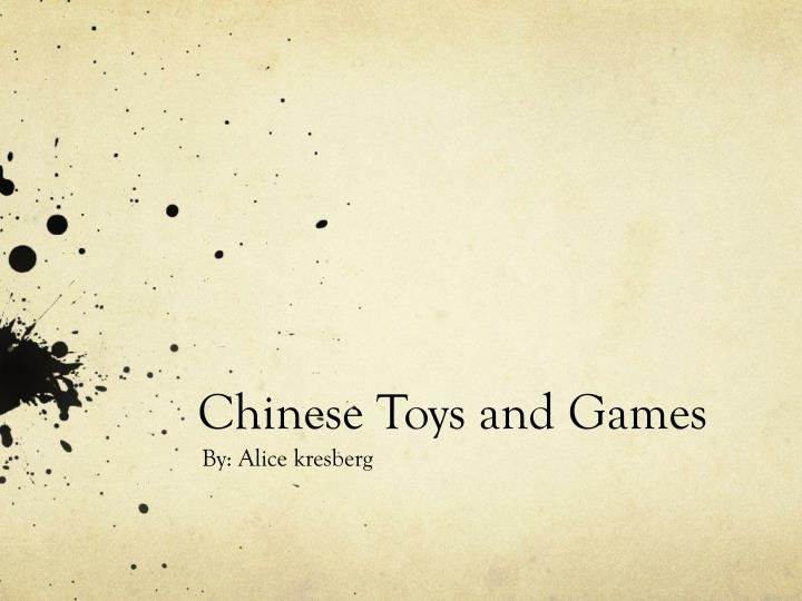 chinese toys and games n.
