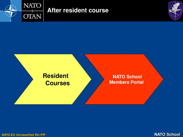 After resident course