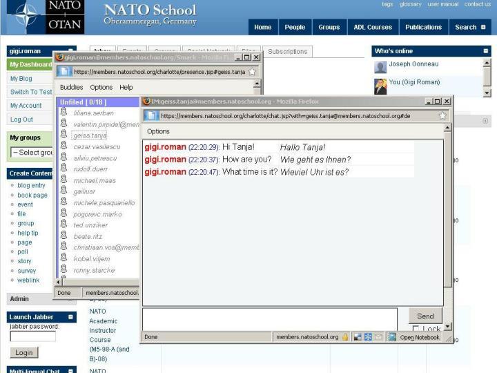 IM/Multilingual Chat