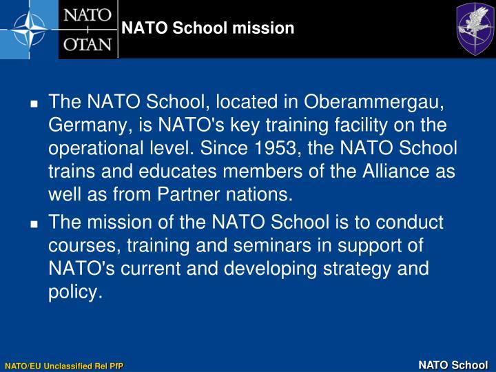 NATO School mission