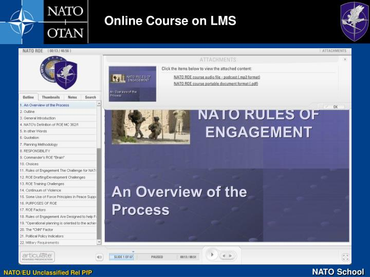 Online Course on LMS