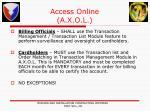 access online a x o l