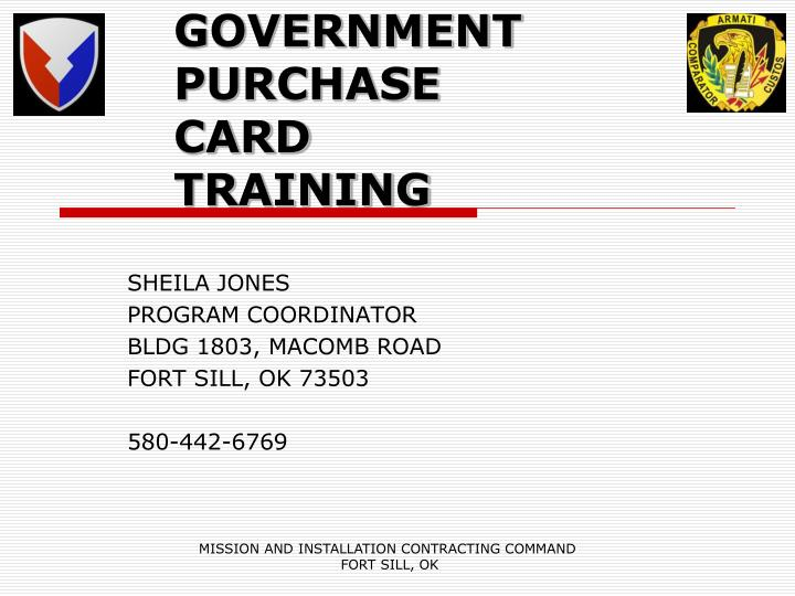 government purchase card training n.