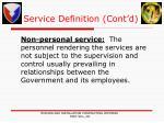 service definition cont d