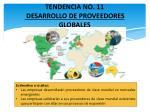 tendencia no 11 desarrollo de proveedores globales