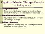 cognitive behavior therapy examples of thinking errors