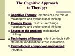 the cognitive approach to therapy