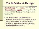 the definition of therapy