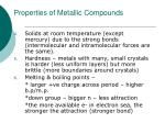 properties of metallic compounds1