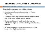 learning objectives outcomes