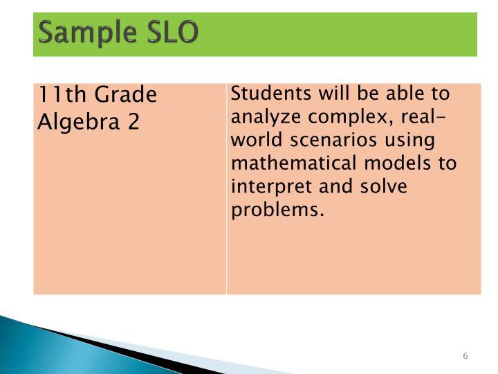 Sample SLO