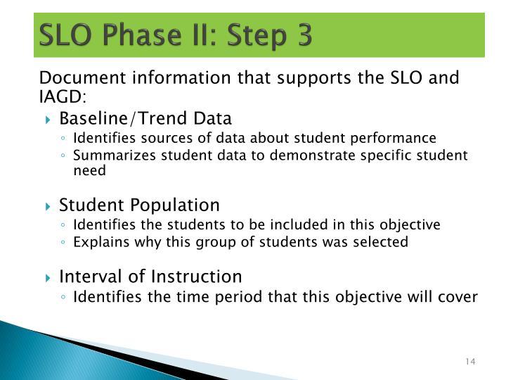 SLO Phase II