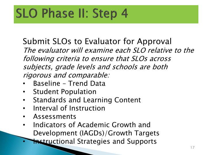 SLO Phase II: Step 4