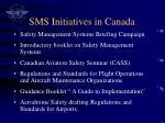 sms initiatives in canada