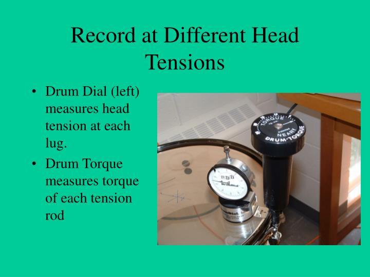 Drum Dial (left) measures head tension at each lug.