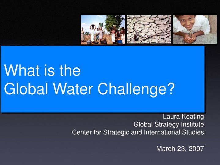 what is the global water challenge n.