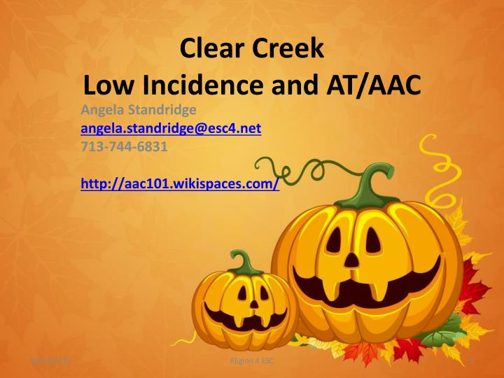 clear creek low incidence and at aac n.