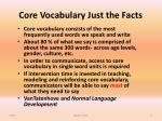 core vocabulary just the facts
